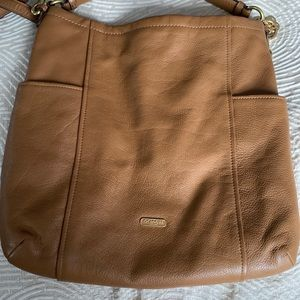 light brown coach large bag